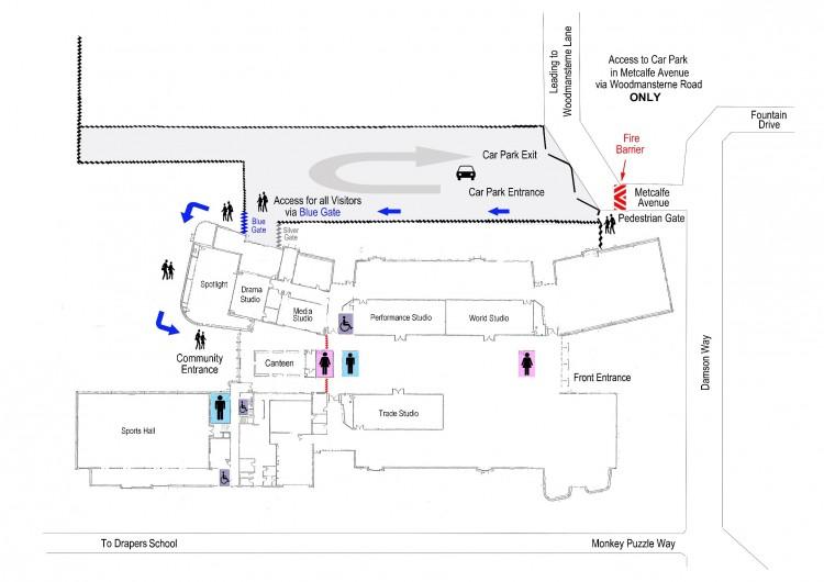 Stanley Park High School Map (Spotlight Room / Dance Studio)